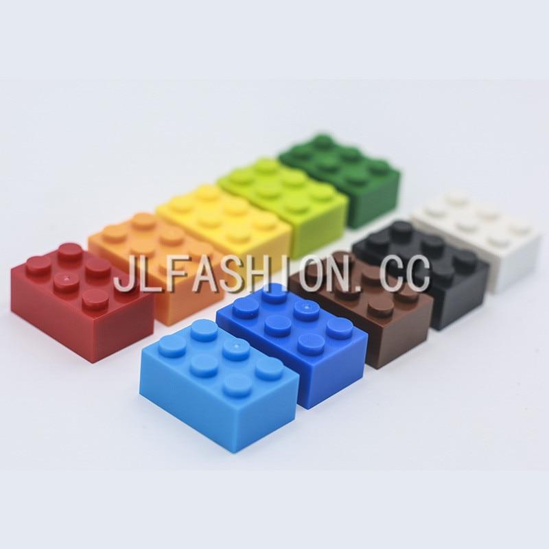 100g/lot! 2*3 High Bricks 6 Particles Bulk Complement Small Blocks Classic Building  Compatible Toys