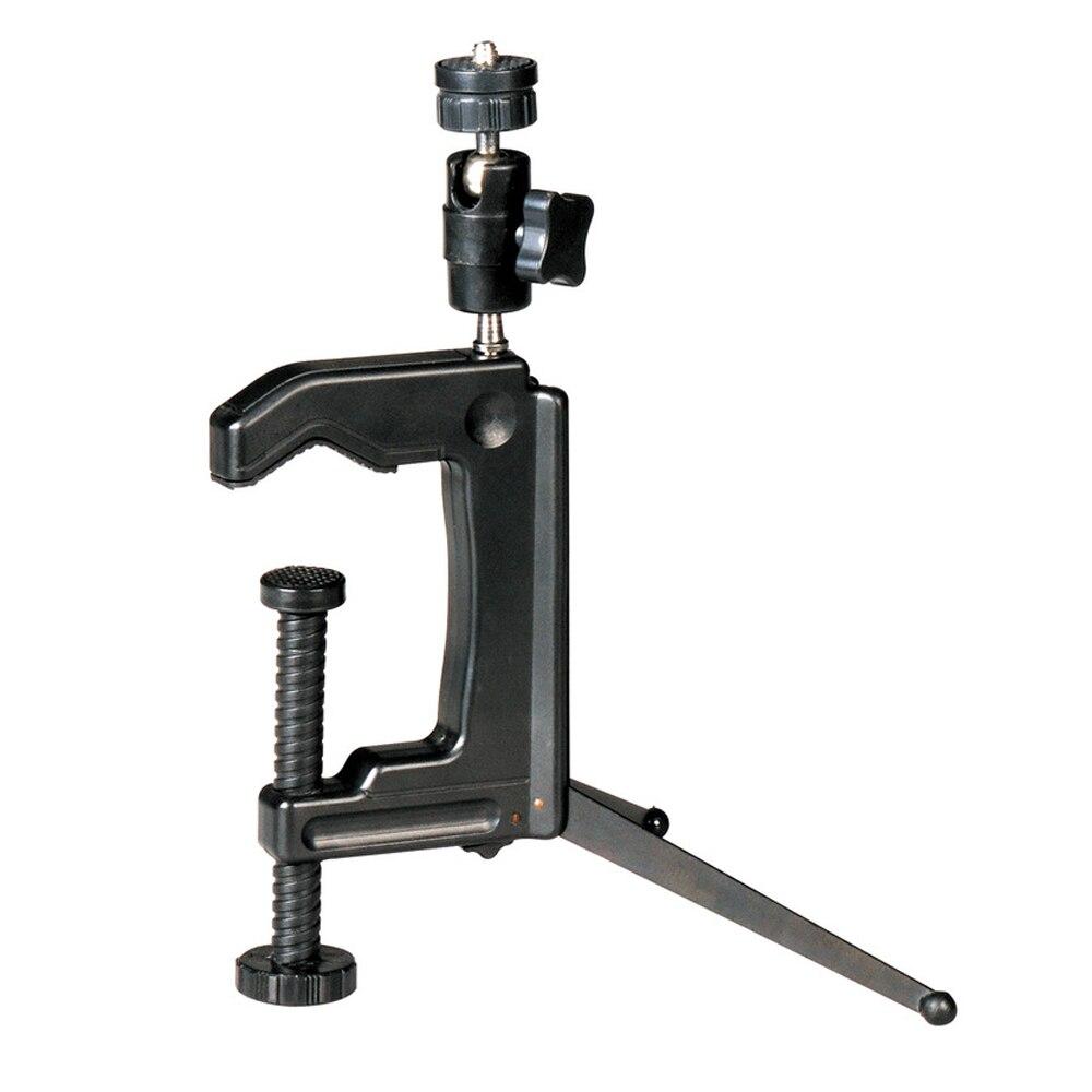 Mini Swiveling Clamp Tripod Desktop C-Clamp Tripod Stand for Camera Camcorder DSLR GDeals
