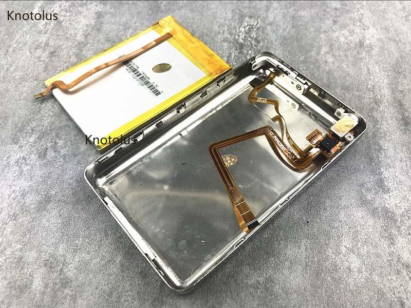 Аккумулятор knotolus 1950 мАч, толстый корпус, чехол, разъем для наушников для iPod 5th video 6th 7th, классический SSD CF, 256 ГБ 512 ГБ