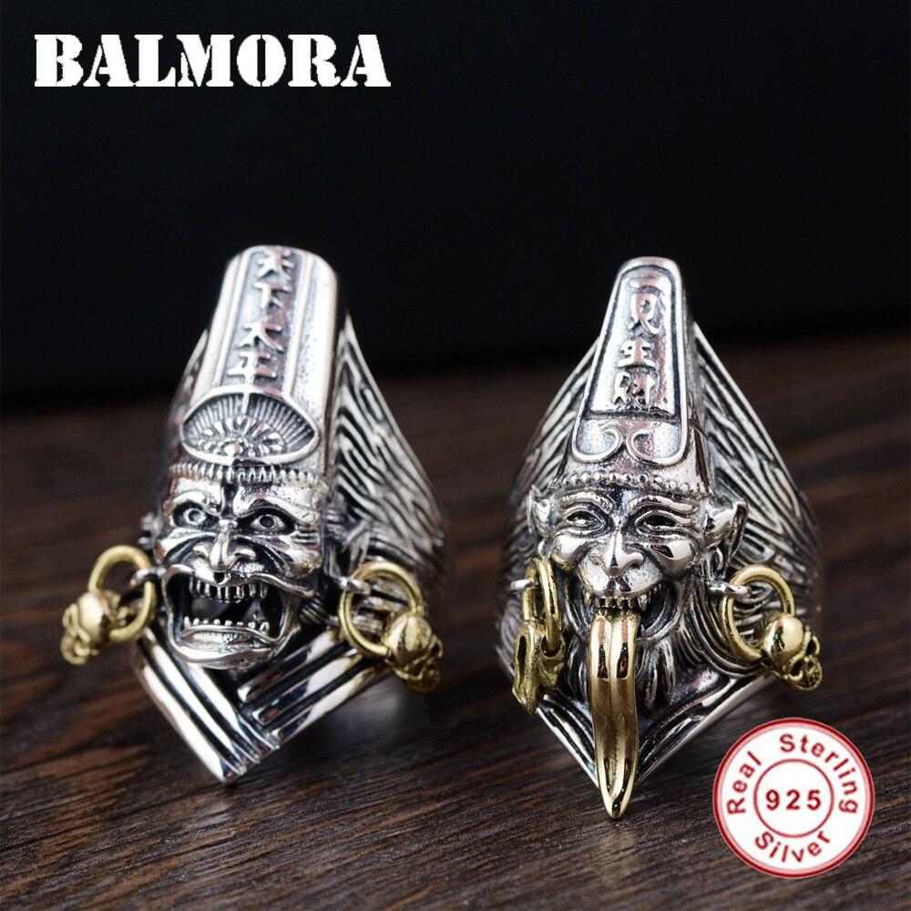 Мужское Винтажное кольцо BALMORA, серебряное ювелирное изделие с изменяемым размером и 100% натуральное ювелирное изделие из тайского стерлинго...