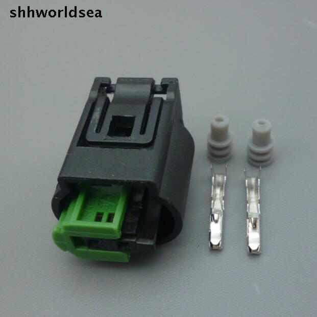 Shhworldsea 50 juegos 2Pin 1,0mm enchufe Auto impermeable enchufe del sensor de temperatura de agua conector de cable eléctrico de temperatura del coche para BMW, Buick