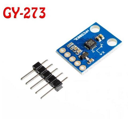 5 pçs/lote GY-273 QMC5883L módulo bússola bússola eletrônica de Três eixos sensor de campo magnético