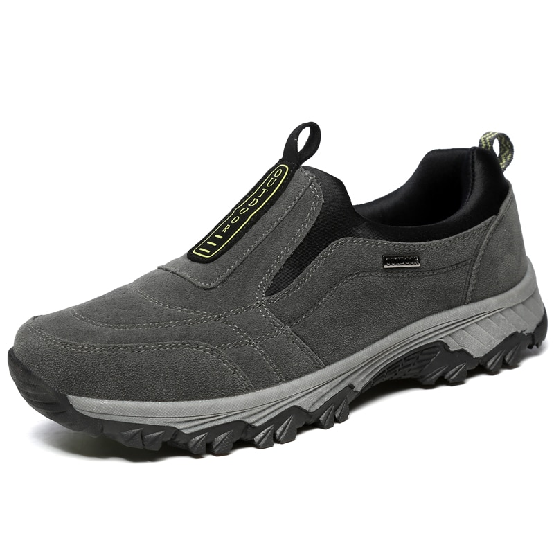 Hommes Slip-On en cuir chaussures de randonnée en plein air Sport baskets hommes escalade chaussures de Trekking