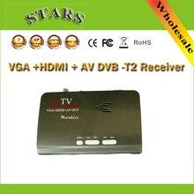 Digital HDMI DVB-T T2 dvbt2 TV Box VGA AV CVBS receptor de TV Convertidor USB DVB-T2 sintonizador para Mpeg 4 H 264 con Control remoto
