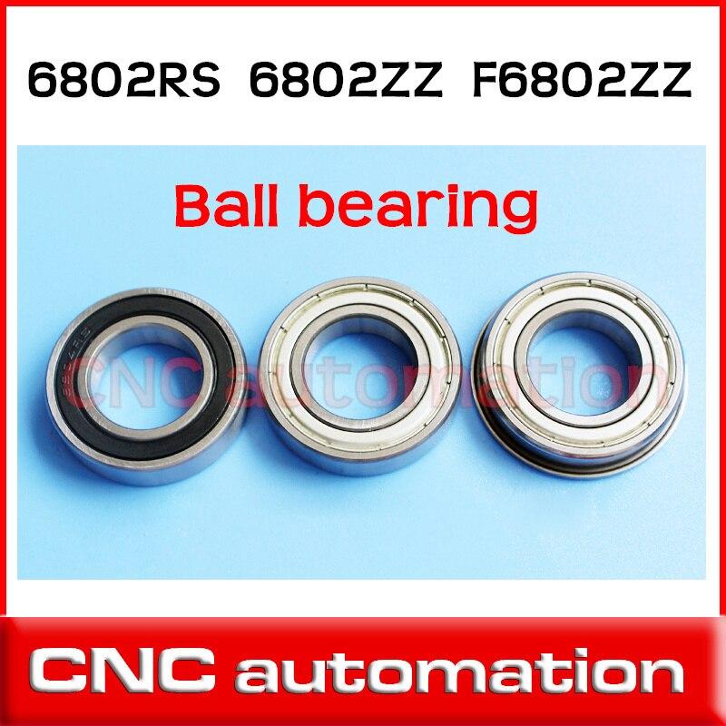 40 pcs de parede fina de esferas profundo do sulco rolamento 6802ZZ 15*24*5mm radial F6802ZZ 61802ZZ 61802 6802RS flange inoxidável S6802ZZ S6802RS