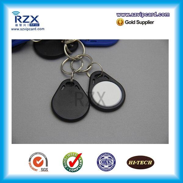 1000 pces preto & branco 125khz t5577 rfid tag proximidade inteligente chave fob com alta qualidade