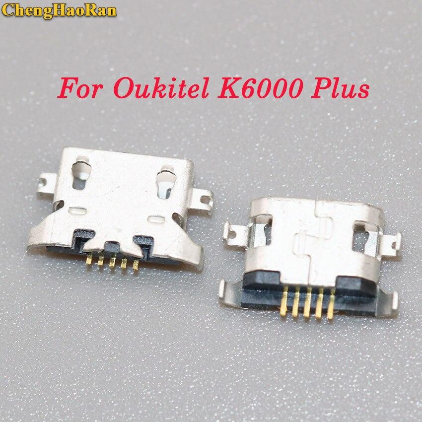ChengHaoRan 2-10 pcs For Oukitel K6000 Plus Micro mini USB charger Charging Dock jack socket Connector Port Parts plug