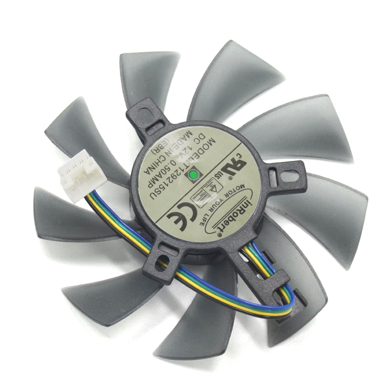 Diy 85mm t129215su 4pin two-ball bearing cooler fan para gigabyte geforce gtx 1050 ti 1060 1070 1080 rx 480 470 570 580 g1 cartão