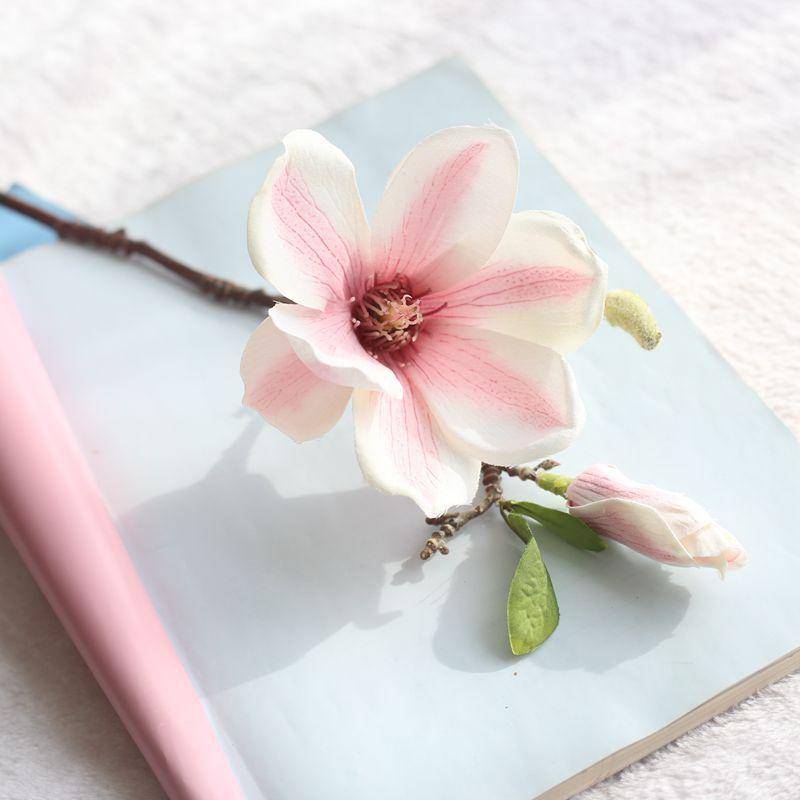 JAROWN Artificial Magnolia Silk Flower Branch Fake Flower Fleur Artificielle Flores Arrange Table Wedding Decor Party accessory