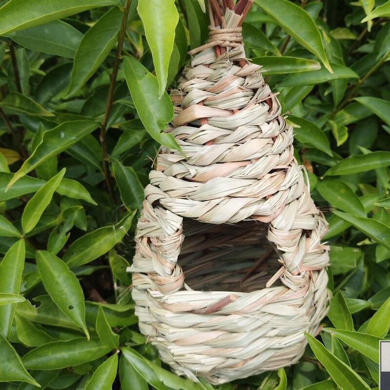 Nuevo nido de pájaros jaula de huevos de hierba Natural cama de pájaro Natural Nido de Pájaro jaula canaria jaula de huevos de pájaro contenedor nido para cría