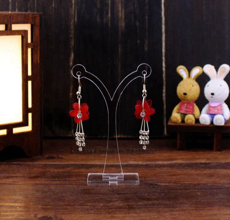 Wholesale 30pcs/lot Earring Display Stand Acrylic Earrings Showing Rack Jewelry Showcase Earring Stud Holder