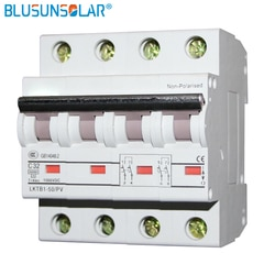 10 pçs/lote 4P 1000V DC Disjuntor MCB 6A 10A 16A 20A 32A 40A 50A 63 30asolar
