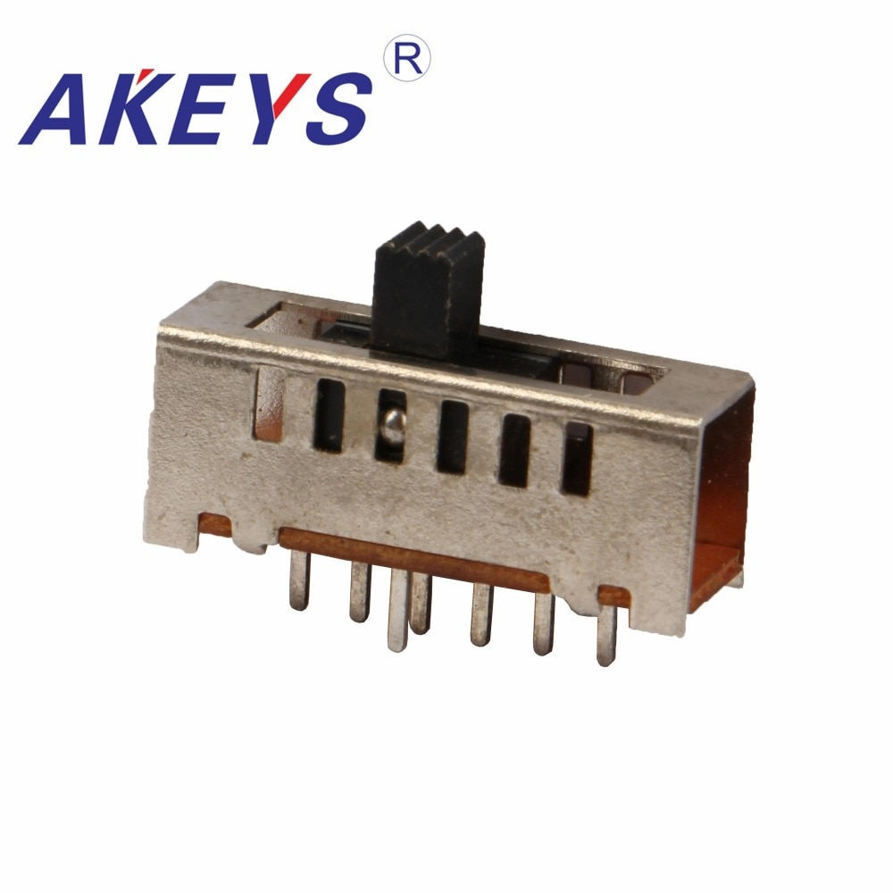 10PCS SS-16F03 Único pólo de seis posições interruptor lance 6 7 pin tipo verticle lidar com alturas pode ser personalizado