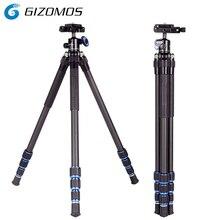 GIZOMOS C-20 2 in 1 Treppiede e la testa Mini Profesional Flessibile In Fibra di Carbonio Treppiede Leggero Treppiede Per dslr smartphone