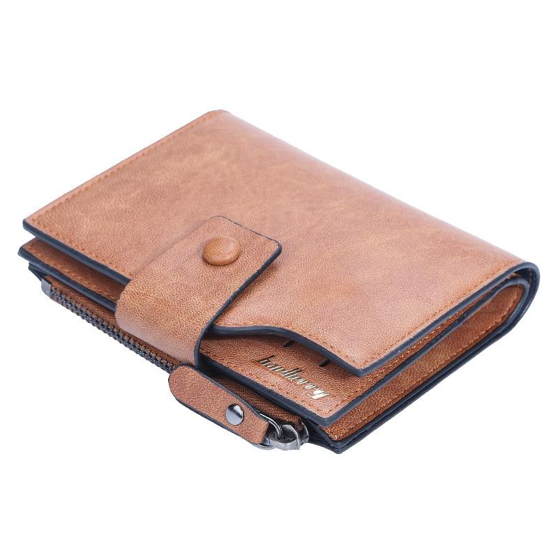 Кошелек мужской кожаный, короткий клатч, кредитница, бумажник кожаный, 2021