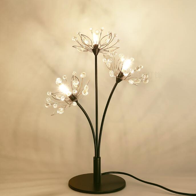 عالية الجودة الحديثة LED كريستال الجدول قلادة مصباح مصباح (الهندباء الشكل) مضمونة 100% + شحن مجاني!