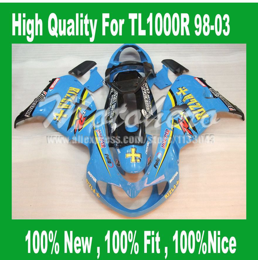 Для SUZUKI TL1000R 98 99 00 01 02 03 TL1000 R Light Blue1998 1999 2000 2001 2002 2003 TL1000R наборы обтекателей # 2155ff