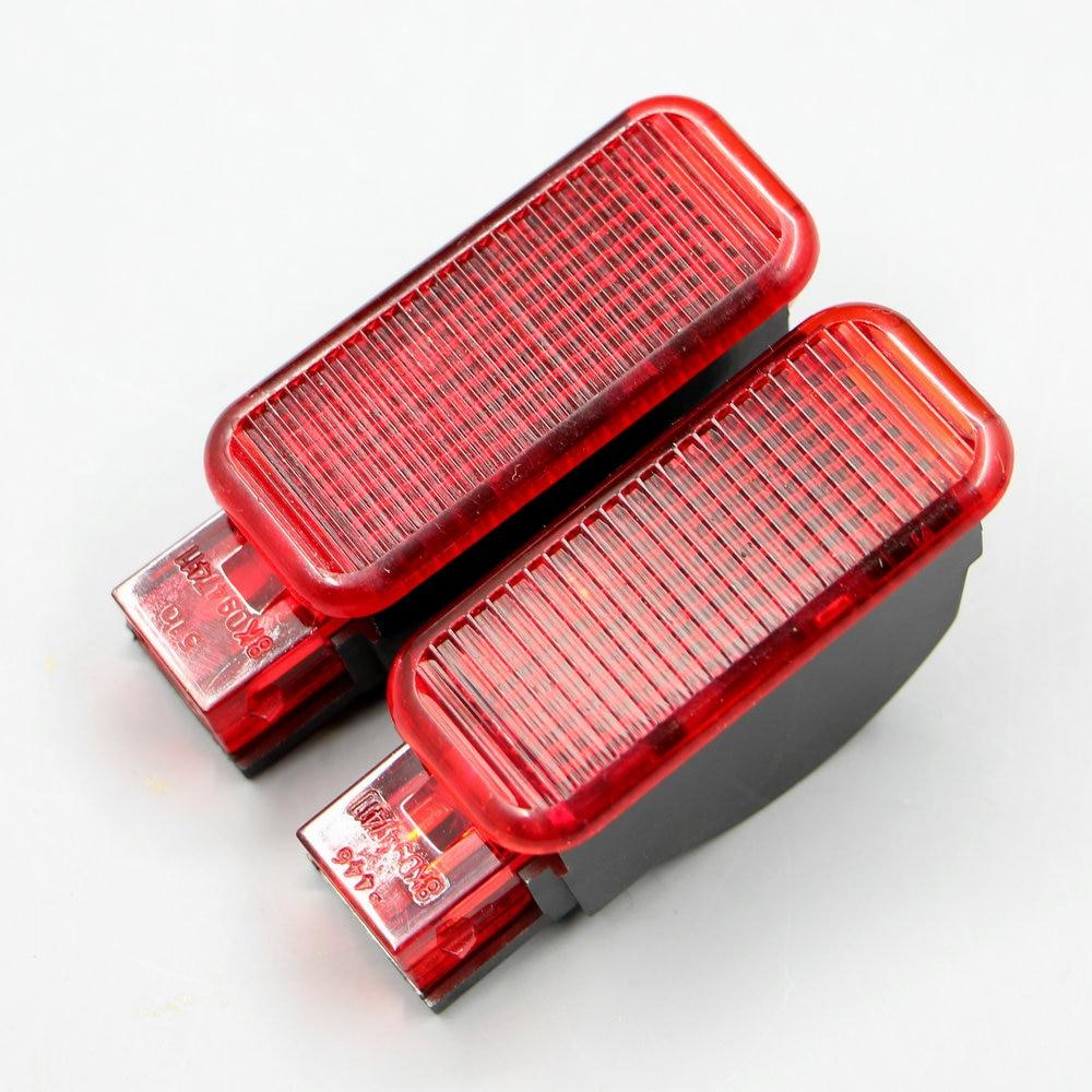 2 * Uds piezas conjunto nueva puerta luces rojas lámpara aplique un...