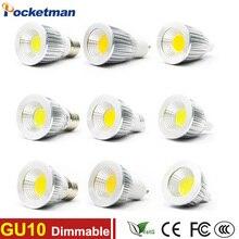 Projecteur GU10 MR16 E27   Lampe, 110V 220V 230V V V, haut rendement COB 3W 5W 7W, Lampara, Dimmable, blanc chaud/froid