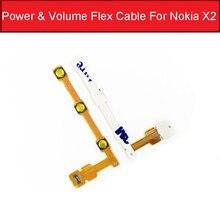 Гибкий кабель для Nokia X + 1013x2 xl X2DS с кнопкой включения, шлейф, запасные части для телефона