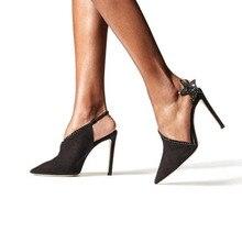 Moraima Snc nouvelle cristal embelli chaussures à talons hauts femme bout pointu découpes Sexy sandales étoiles à cinq branches talons de fête