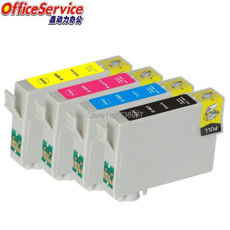 4 PK Cartucho Jato de Tinta Compatível T0921 T0922 T0923 T0924 tinta Completo Para Epson Stylus T27 C91 CX4300 impressora com chip
