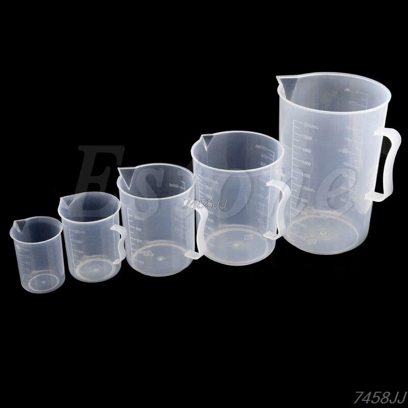 Taza medidora de plástico, 150/250/500/1000/2000mL, jarra para superficie de caño, cocina, G03, envío directo