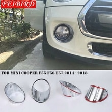 ABS argent brillant pour Mini Cooper F55 F56 F57 3 porte 5 porte 2014 - 2018 feu antibrouillard décoratif cadre garniture de la bague