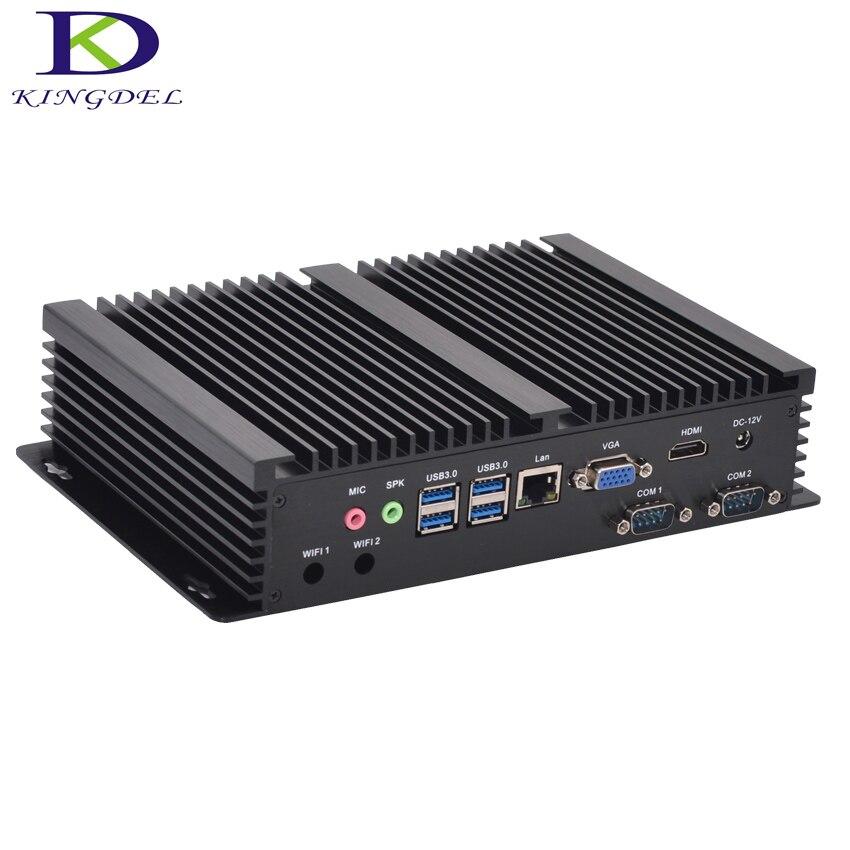 Lüfterlose Industrie-pc Mini PC Windows 10 Robuste MINI-ITX-ALUMINIUM-GEHÄUSE Intel Core i3 5005u HTPC TV Box RS232 WiFi USB VGA Thin Client PC