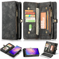 Чехол-Кошелек CaseMe на молнии для телефона Samsung Galaxy Note 10, многофункциональные съемные чехлы для карт для Galaxy S8 S9 + Note 8 9 S10 e