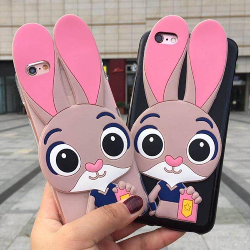 Funda de teléfono de conejo bonito 3D para Samsung Galaxy J1 Mini Ace J2 Core Prime 2015 J3 2016 J4 Plus Pro 2017 J6 2018