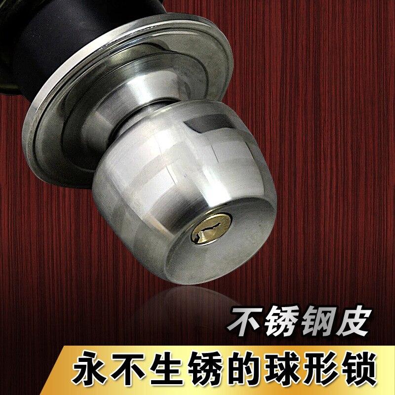 5831 Thai de lujo cerradura esférica de la puerta del hogar sin llave cocina y baño redondo Piel de acero inoxidable