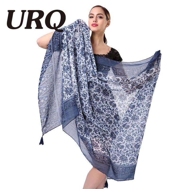 Moda mulher cachecóis com borlas floral impresso cachecol para mulher menina 100cm * 180cm tamanho grande xales verão macio v9a18544