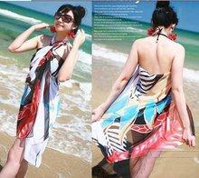hottest 20pcs Fashion Bikini Summer Beach Wrap Swimwear CoverUp Sarong Scarf Pareo  free shipping