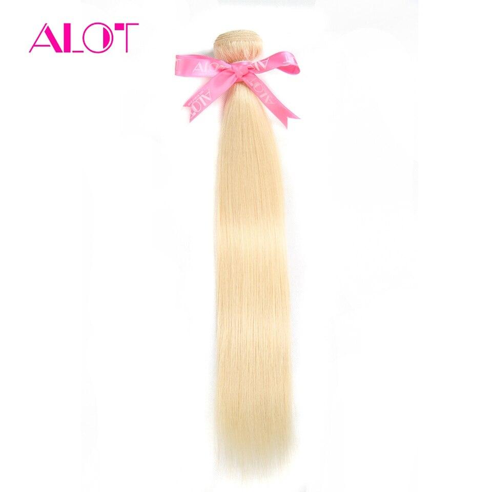 ALOT/бразильские пучки натуральных волос, 613 медовый блонд, прямые пучки волос, 1 шт., не Реми, пучки волос 12-24 дюйма, можно купить 3-4 пучка