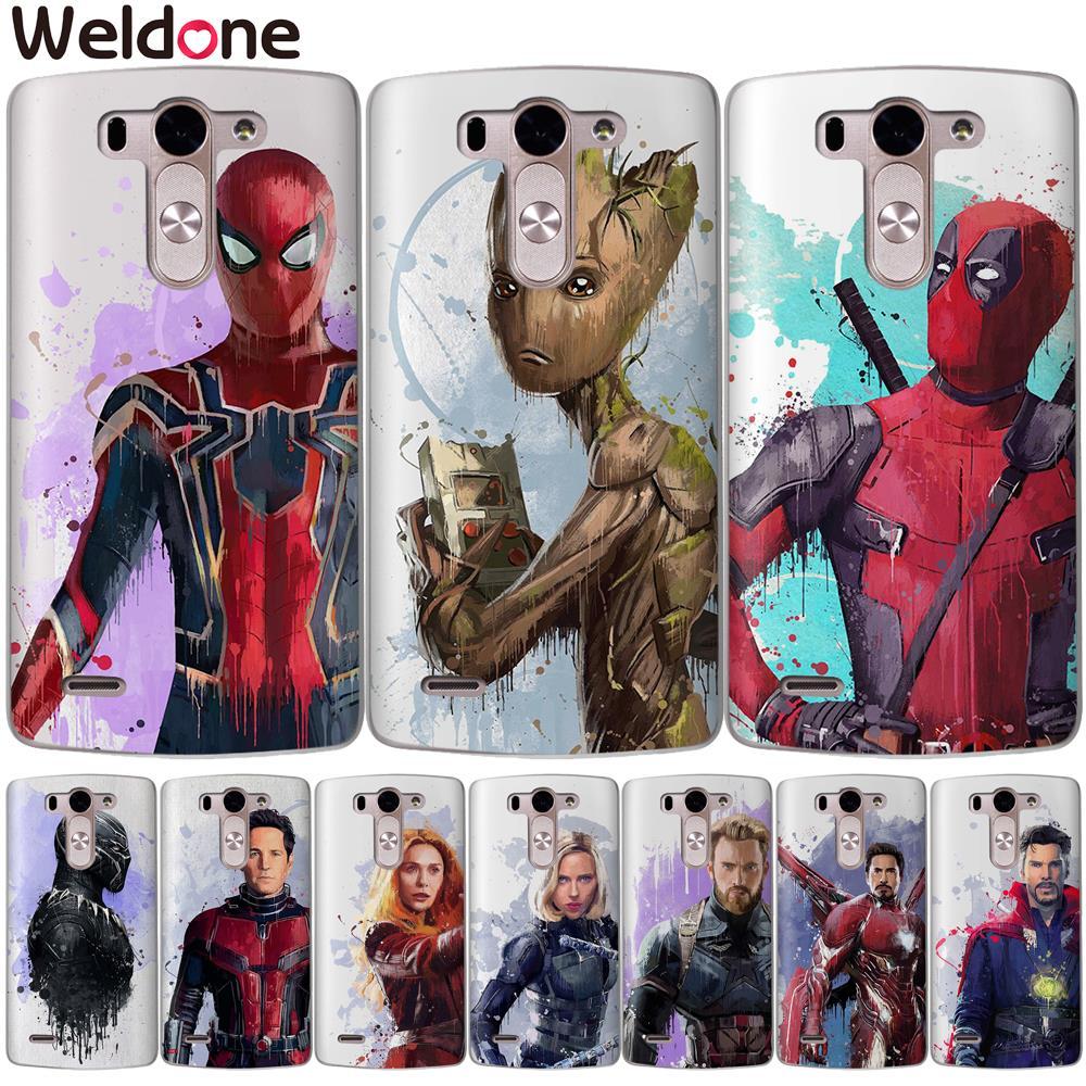 Marvel Avengers Cases For LG Q6 G6 XPower 2 XScreen G4 G5 Q8 K7 K8 K10 2017 ironMan Spiderman Deadpool Silicone case Etui Cover