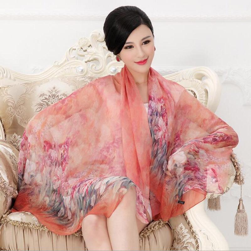 NEW 2019 Luxury Brand Scarf 100% Silk Scarf Natural Real Silk hijab Women Long scarves Shawl Wrap Female Bufanda de mujer