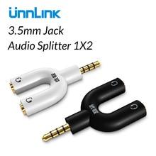 Unnlink 4 pôles 3.5 prise Audio séparateur Extension Microphone 1X2 adaptateur casque câble AUX pour écouteurs MP3 MP4 lecteur Radio