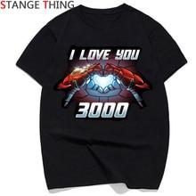 Je Taime 3000 Grâce Tony Fer Homme T-shirts Hommes/femmes Tony Stark Super-Héros T-shirt T-shirt De Mode Couple top T-Shirts Mâle/femelle