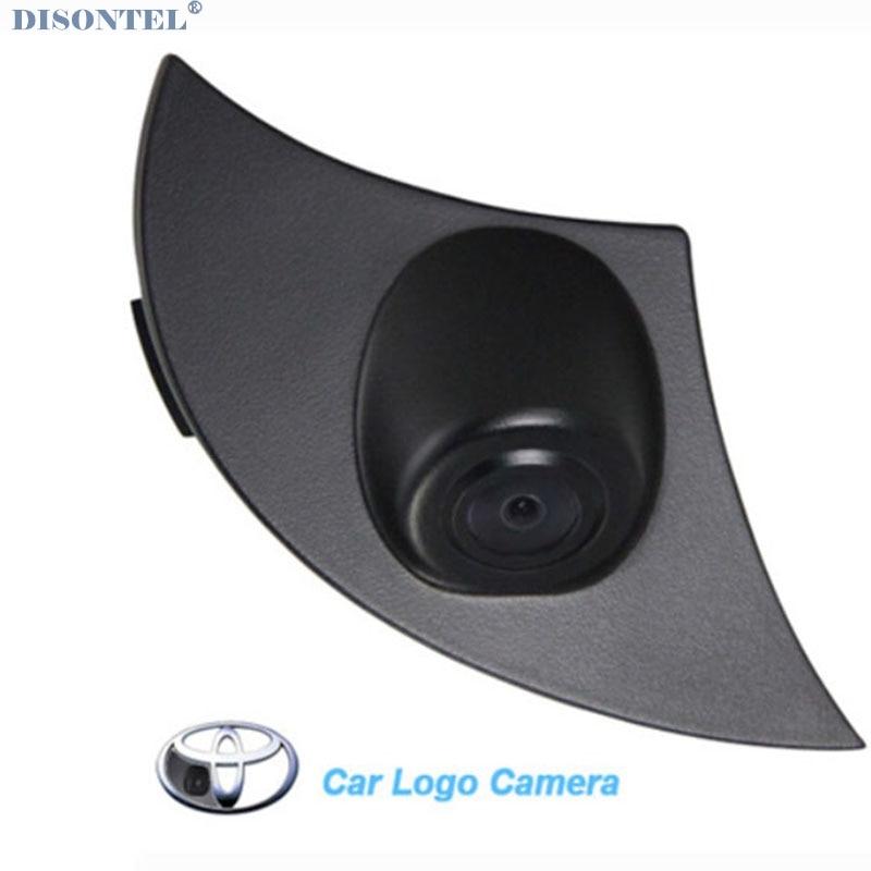 Ccd visión nocturna impermeable Vista frontal logotipo del coche marca emblema aparcamiento cámara para Toyota Camry prado Highlander RAV4