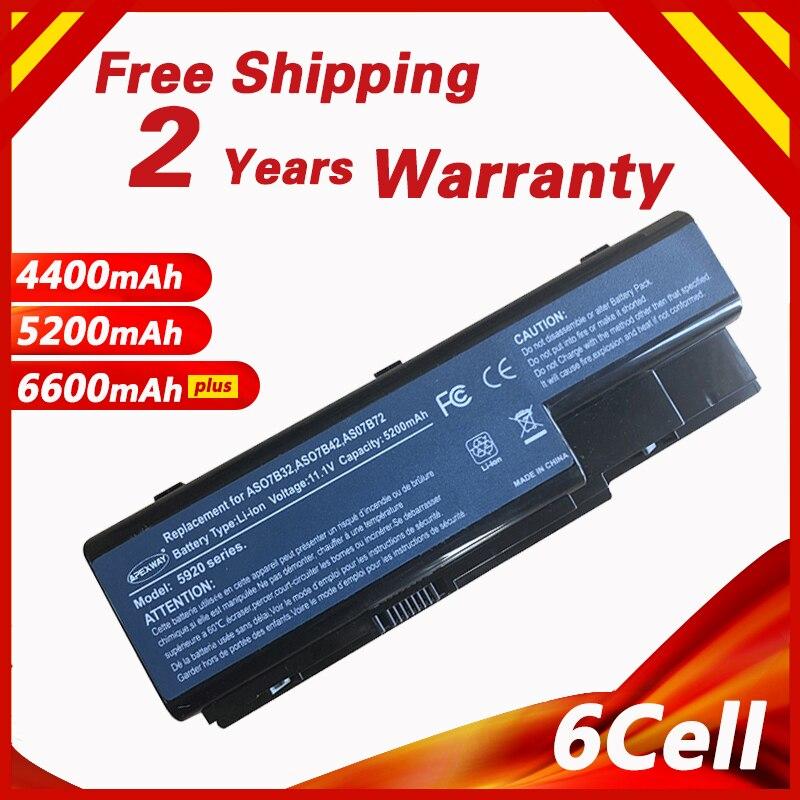 Golooloo de batería para Acer 5920 de 5930 de 5930G 6920G 6930G 6530 AS07B31 AS07B32 AS07B41 AS07B42 AS07B51 AS07B52 AS07B61 AS07B71