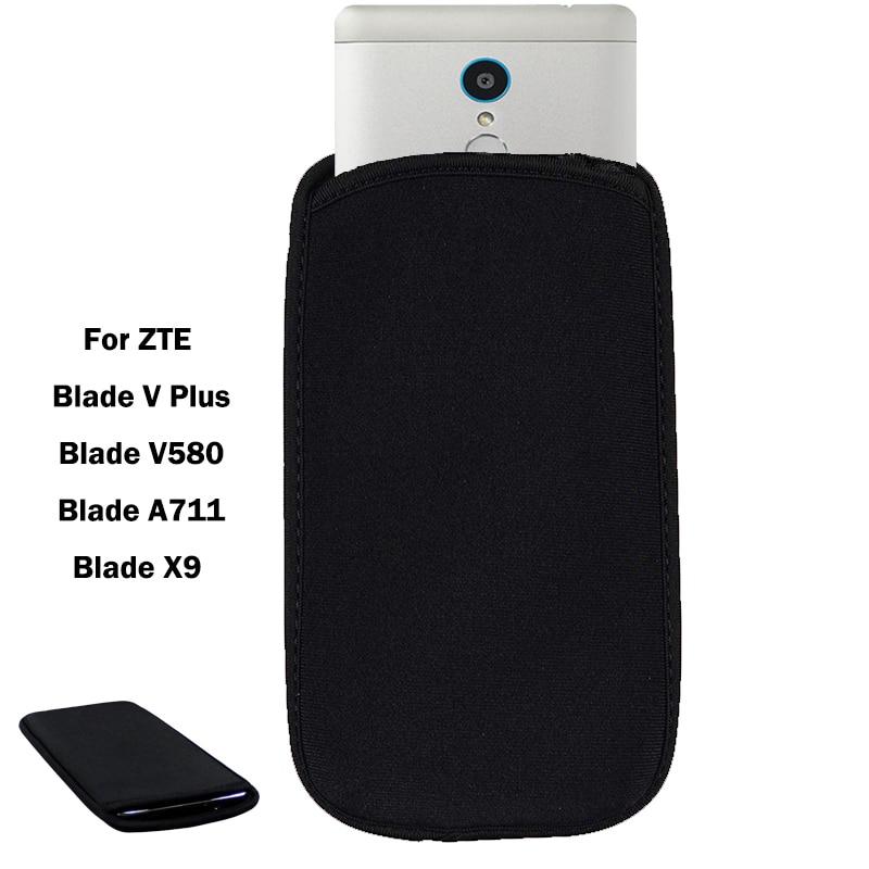 Funda elástica protectora de neopreno Flexible para ZTE Blade V Plus/Blade V580/Blade A711/Blade x9 universal bolsa caso