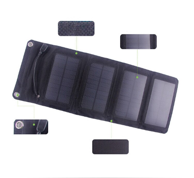 Best 5w solar folding charger outdoor charging folding bag solar mobile power USB adopted SUNPOWER Panel For Xiaom iphone table