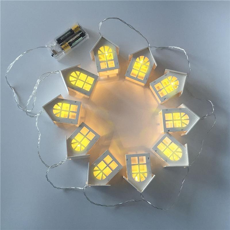 Luces LED de madera para casa de pájaros Lights10, luces de fiesta de madera, decoración para casa de pájaros, luces de Navidad, luces de primavera para interior