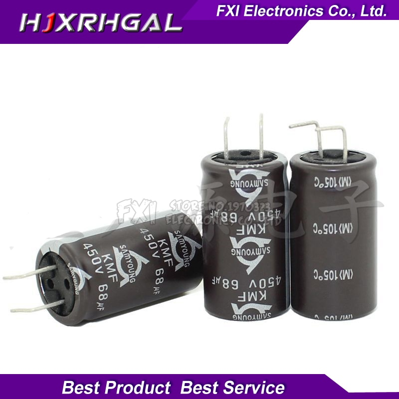 5 шт. 450v68uf 68uf450v 18*31,5 электролитический конденсатор с алюминиевой крышкой, 450v 68 мкФ 18x31,5