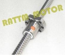 CNC Mechanical Parts 1PC SFU1605 Ballscrew - L200mm + 1PC 1605Nut for BK/BF12 standard processing