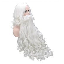 Soowee Christmas Costumes Santa Claus Wig and Beard Synthetic Hair Short SantaClaus Xmas Gift Cospla