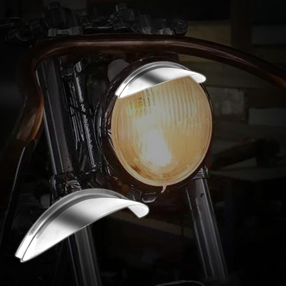 "7 Universal Farol Da Motocicleta Viseira ""Farol Chrome fit para Harley Touring Softail FLST"
