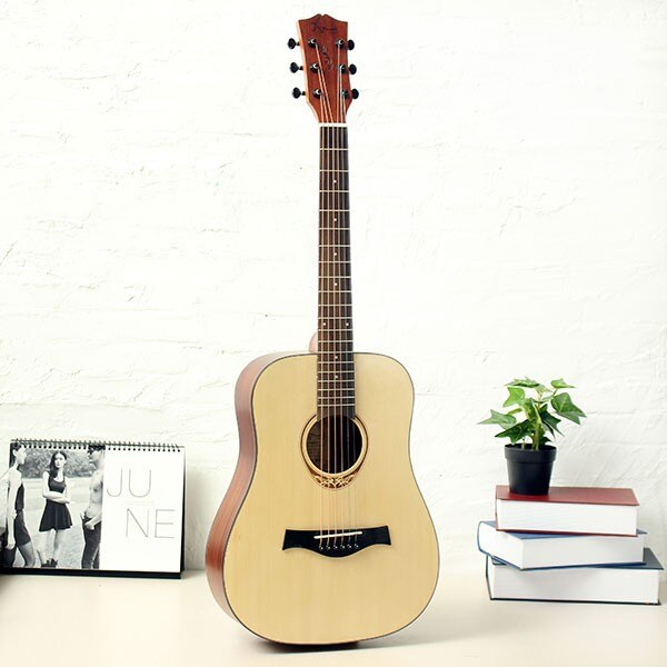 Amari AM-BABY 34 inch Guitar Rosewood Folk Acoustic 6 Strings Guitar With Gig Bag/Tuner/Capo/Strap
