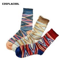 [COSPLACOOL]Men Fashion Harajuku Nation Style Heap Heap Socks Meias High Quality Comfy Breathable Socks Sokken Calcetines